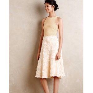 Anthropologie Tufted Blossom Skirt